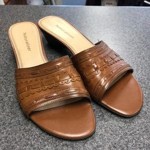 Naturalizer Brown Leather Sandals
